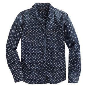 J. Crew Star Dot Keeper Chambray Button Shirt